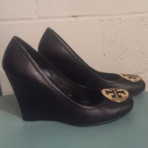 22c94f3dbefb1 Tory Burch Shoes - ⚡️SALE⚡️Tory Burch Black Leather Sophie Wedge